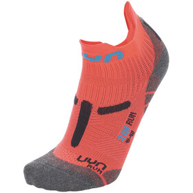 "UYN 2"" Running Socks Women, coral fluo/anthracite"
